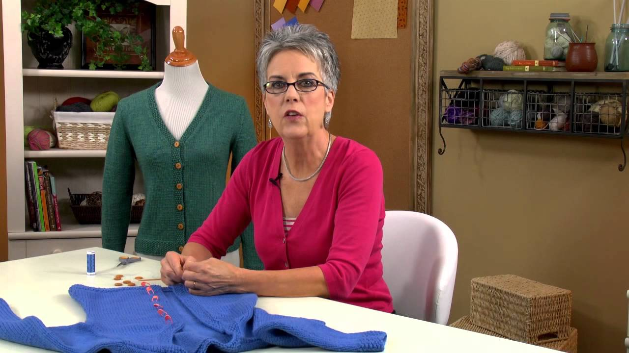learn how to finish knit sweaters with annie s online