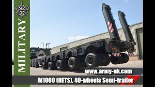 M1000 (HETS), 40-wheels Semi-trailer heavy equipment