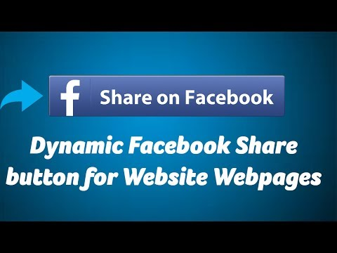 Dynamic Facebook Share Button For Website Webpages