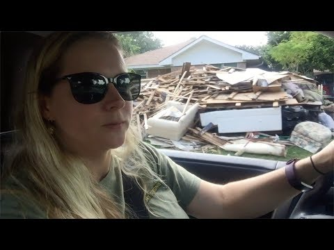 HURRICANE #HARVEY AFTERMATH - HOMES DESTROYED IN THE HOUSTON FLOOD | TexasGirly1979