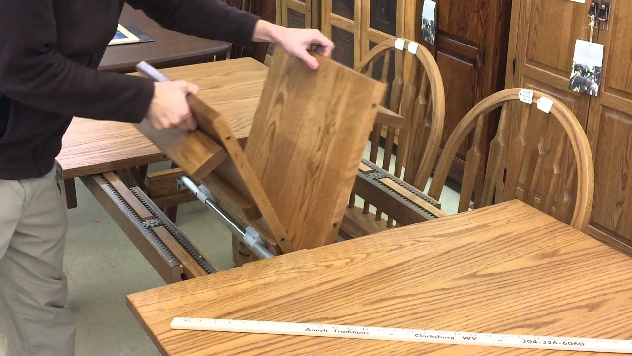 amish butterfly leaf table