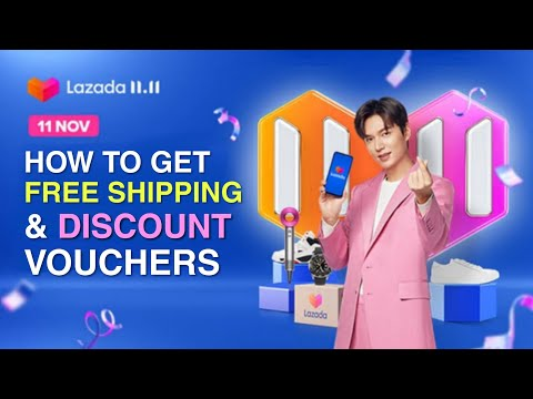 LAZADA 11.11 SALE | How to Get FREE SHIPPING and DISCOUNT VOUCHERS | Get up to 50% OFF!!