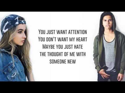 Attention - Alex Aiono and Sabrina Carpenter (Lyrics)
