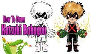 How To Draw and Coloring Katsuki Bakugo | Boku no Hero Academia easy step by step ~ for kids