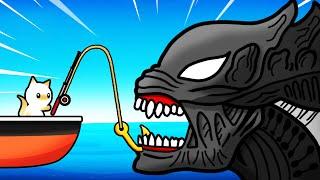Catching SECRET ALIEN SHARK (Cat Goes Fishing)