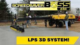 Ligchine International ScreedSaver BOSS 240 with Topcon LPS Robotic Total Station Concrete Paving