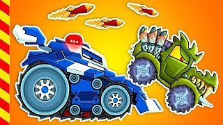Машина ест машину новые серии. Опасные машины преследуют зубатых монстров. Атака машинок
