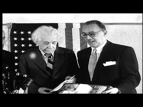Yeshiva University dedicates new college of medicine to Albert Einstein HD Stock Footage