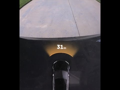 Tesla Model S Parking Sensor Test