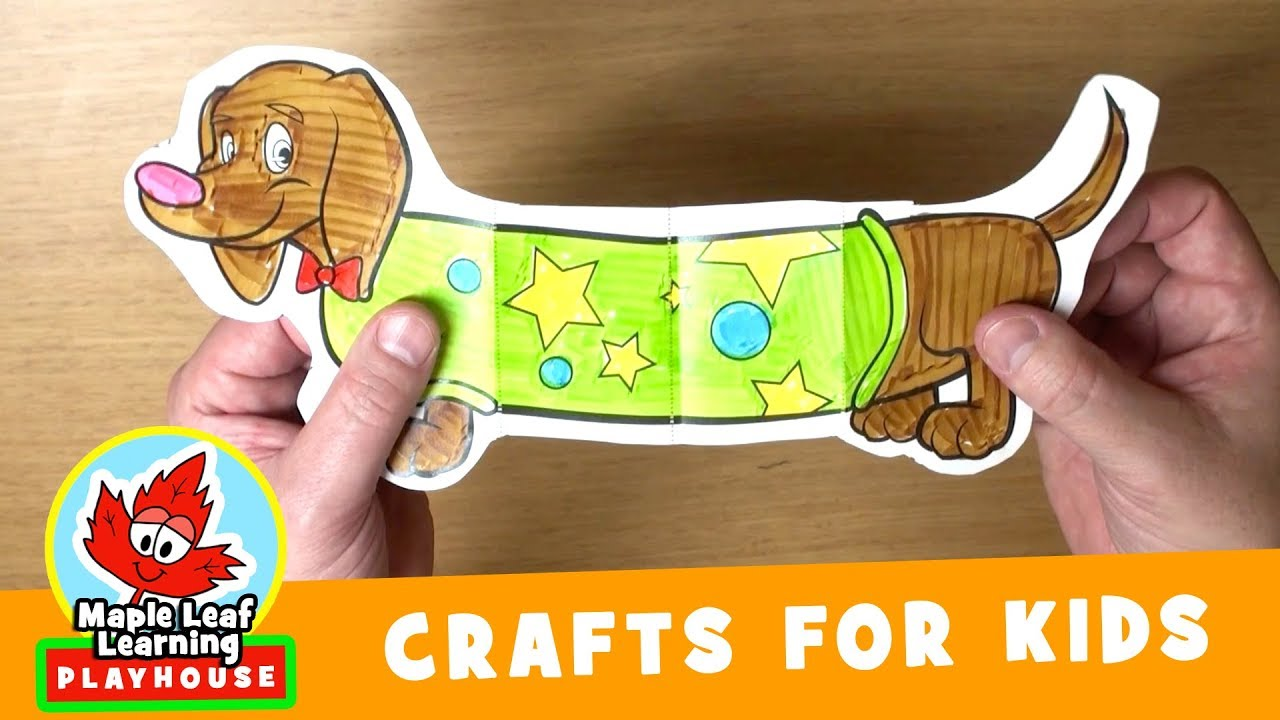 Funny Dog Craft For Kids Maple Leaf Learning Playhouse Youtube