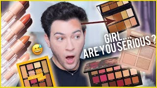 TESTING NEW OVER HYPED AF MAKEUP! KKW Beauty, Huda Beauty, Maybelline, ETC!