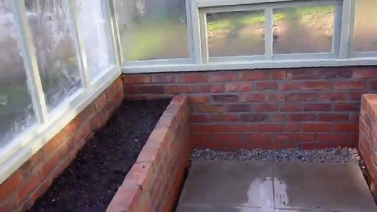 Short Tour Of Victorian Style Greenhouse With Brick Base