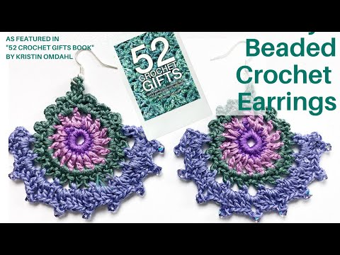 How to Add Beads to Crochet Earrings plus Multiple Ways to add French Hooks and Rings