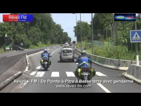Réveil-FM: Guadeloupe, de Pointe à Pitre à Basse Terre avec des gendarmes