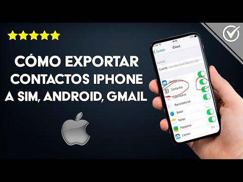 Cómo Exportar los Contactos iPhone a SIM, Android, Gmail, iCloud, Excel o PC