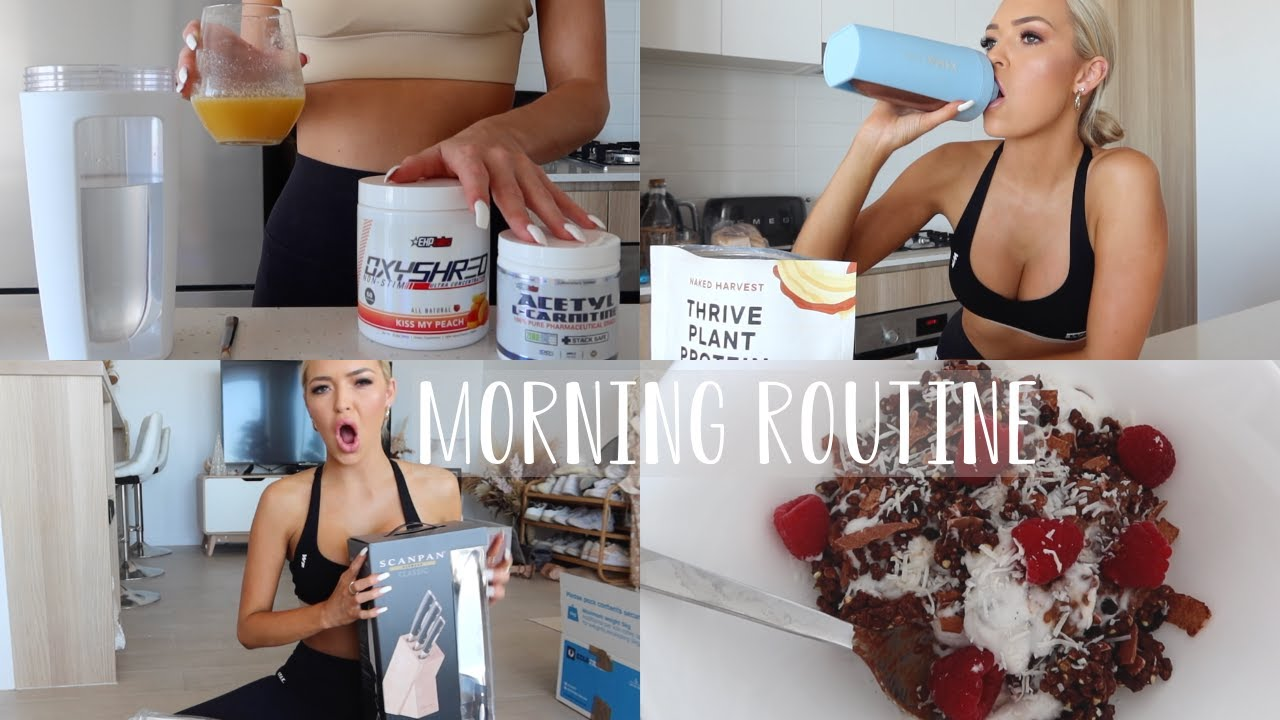MORNING ROUTINE | supplements, vitamins, chocolate chia pudding recipe & more