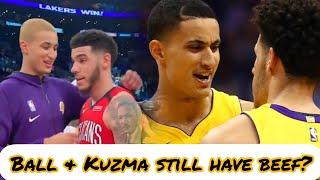 Lonzo Ball refuses to congratulate Kyle Kuzma
