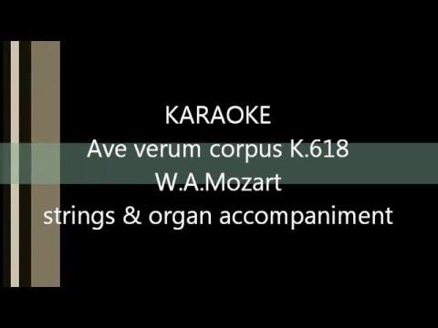 KARAOKE Ave verum corpus K.618(W.A.Mozart) strings & organ accompaniment