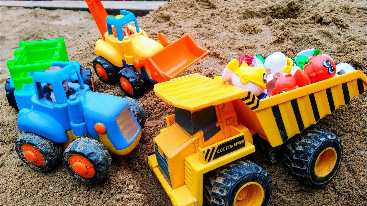 Мультики про машинки. Синий трактор, самосвал и машинки ...