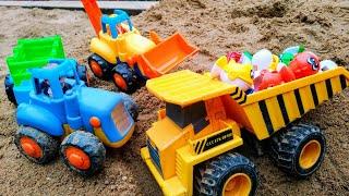 Мультики про машинки Синий трактор самосвал и машинки весело играют Машинки Детские мультики