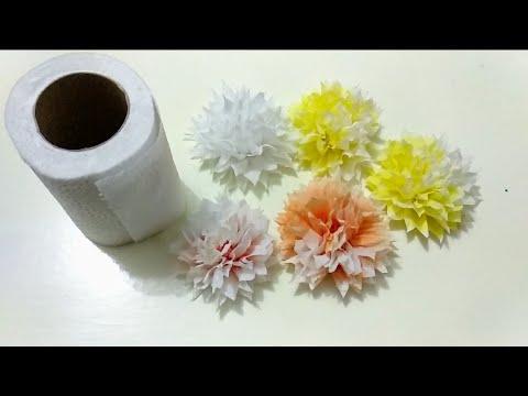 ดอกไม้กระดาษทิชชู่ฟูฟ่อง   tissue paper   DIY flowers