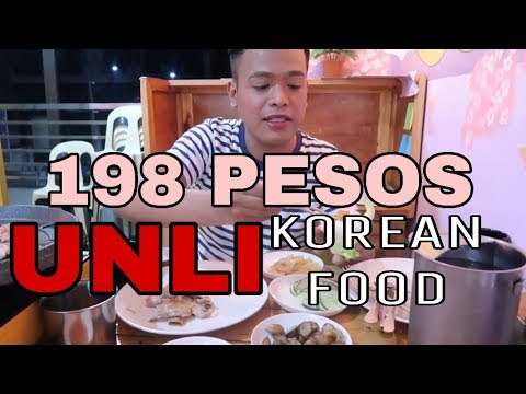 198 PESOS UNLIMITED SAMGYUPSAL AND SIDE DISHES