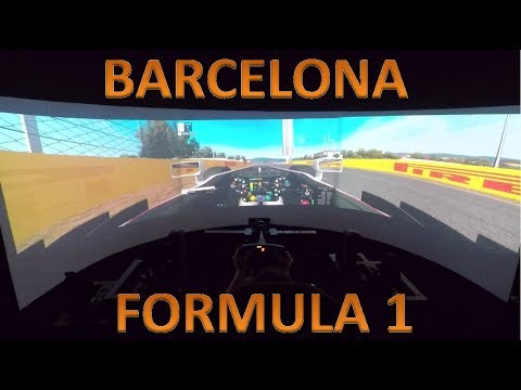 F1 @ BARCELONA  | FORMULA 1 PILOTECH RACING SIMULATOR | TEST DRIVE ONBOARD POV GOPRO