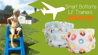 Smart Bottoms Lil Trainers, Training Pants Review / Demo #ClothDiapers