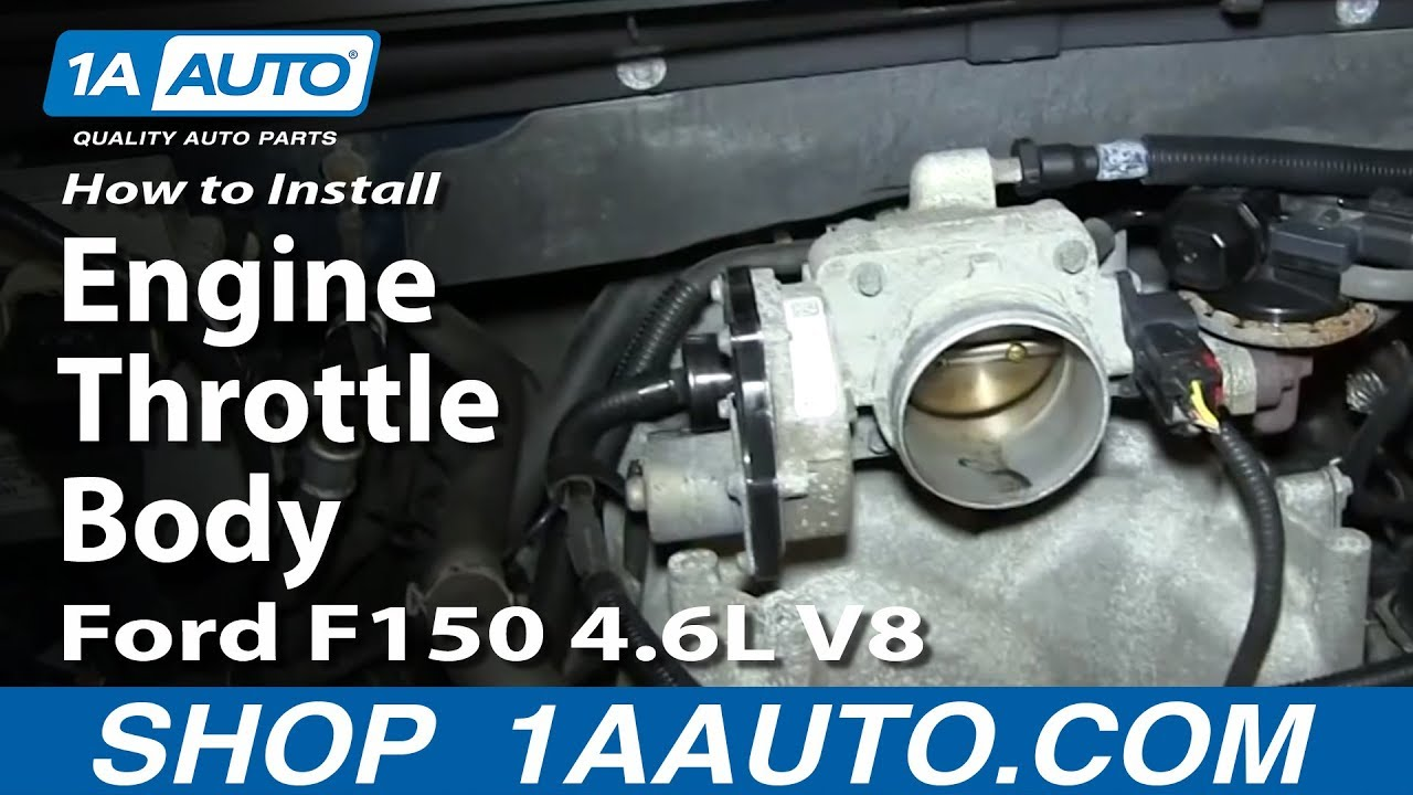 how to replace engine throttle body 05 06 ford f150 4 6l v8 [ 1280 x 720 Pixel ]