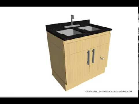 Mueble Para Fregadero Lavapaltos En Madera Aglomerada