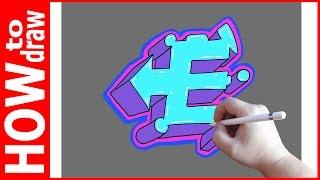 Как нарисовать граффити буквы, Е № 1(INSTAGRAM: https://www.instagram.com/dmitrysyrman/ Я в ВКОНТАКТЕ: http://vk.com/syrman_d Группа в ВКОНТАКТЕ: http://vk.com/public59608073 I'm on ..., 2016-09-23T03:14:45.000Z)