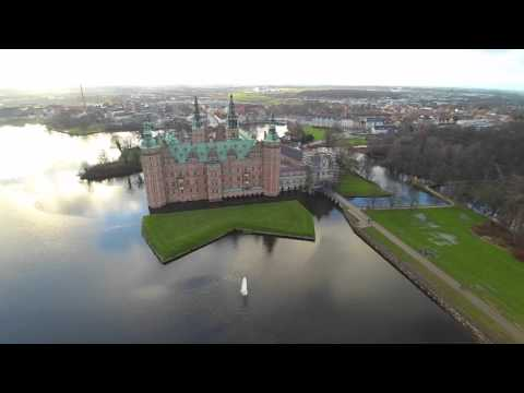 Frederiksborg Castle, Denmark - Aerial Drone Video (HD)