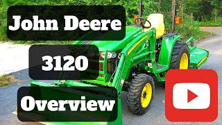 John Deere 3120 utility tractor with 4wd, hydro transmission, and 300cx loader