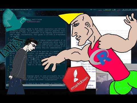 The Virgin LaTeX Vs. The CHAD R Markdown!