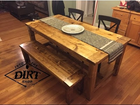 Diy Farmhouse Table Youtube