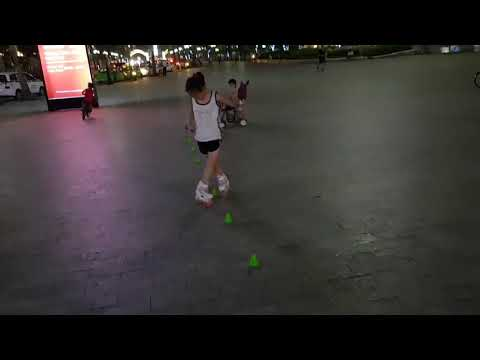 Back cross slalom trick tutorial - inline skate club