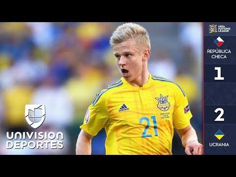 Republica Checa 1-2 Ucrania - RESUMEN Y GOLES – UEFA Nations League
