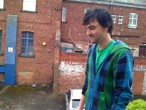 Adam jumping a hench gap