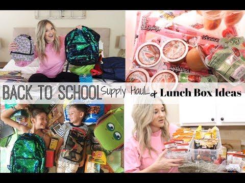 BACK TO SCHOOL SUPPLIES HAUL 2018 + EASY SCHOOL LUNCH IDEAS