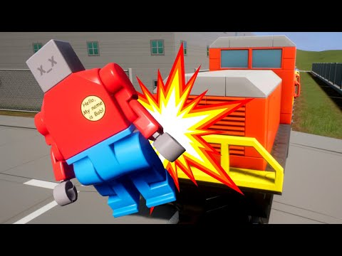 We Killed OB With The Train (AND IT STOPPED!) | Brick Rigs |
