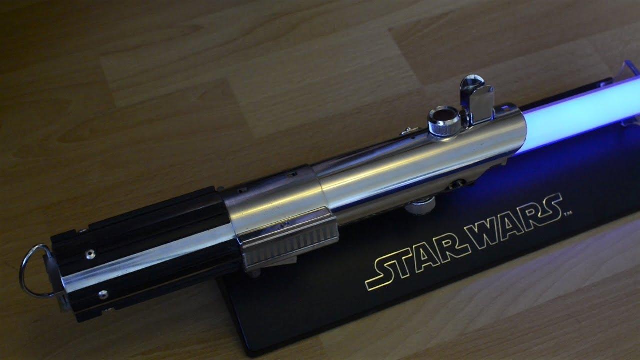 Star Wars Master Replicas Force Fx Luke Skywalker Lightsaber Esb Details Light And Sound Fhd Youtube