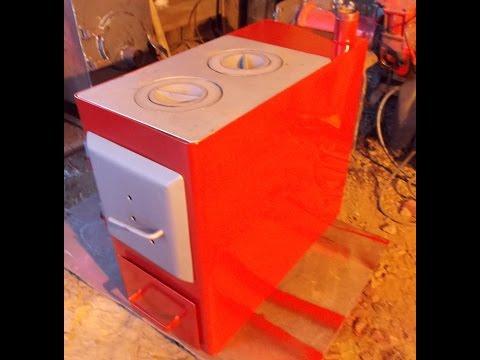 Простой котёл отопления своими руками для дома в 100 кв. м. (simple stove)