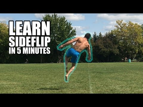 Learn How to Side Flip On Ground in 5 Minutes