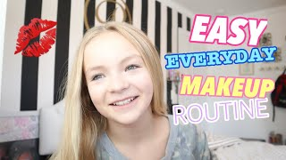 EASY! EVERYDAY! MAKEUP ROUTINE FOR SCHOOL! // Pressley Hosbach