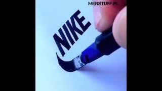 MENSTUFF.PL - Awesome 8 brand logo draw made by hand - DIY - painting