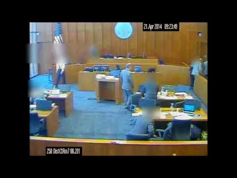 Siale Angilau courtroom video