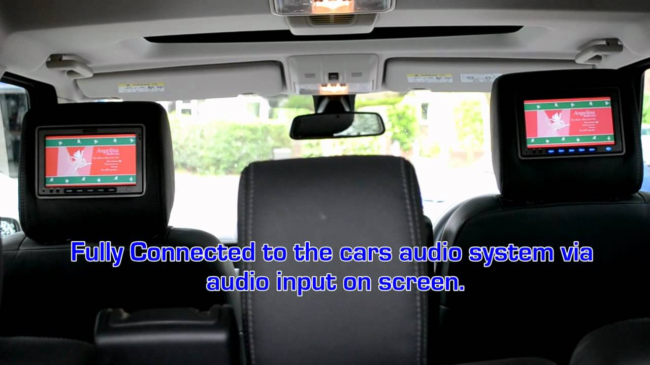 Landrover Discovery Headrest Screens 4 Lr4 Vizualogic Dvd