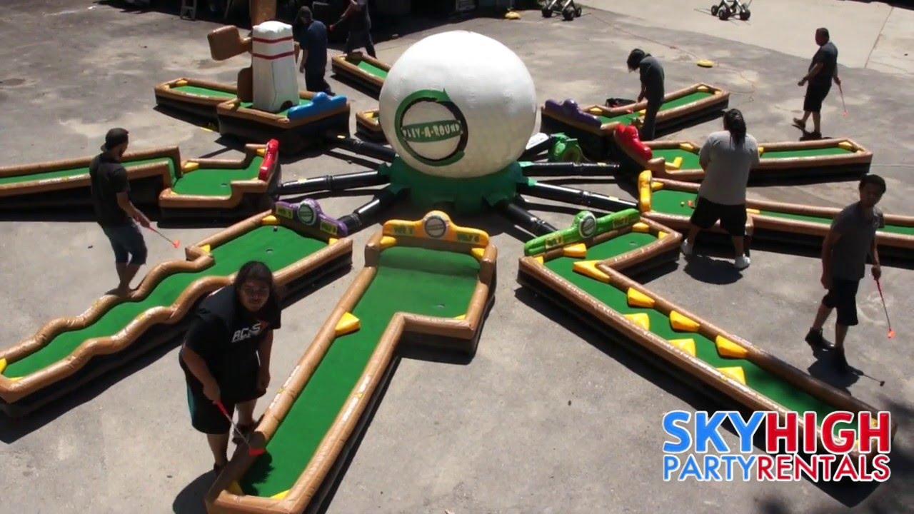 Indoor Golf Houston #35: Putt-Putt Golf Game Rental Houston | 281 606 5867 | Sky High Party Rentals
