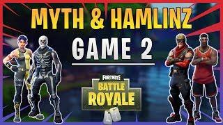 Fortnite - UMG Tournament - Ninja and Me vs Myth & Hamlinz - Game 2 - June 2018 | DrLupo