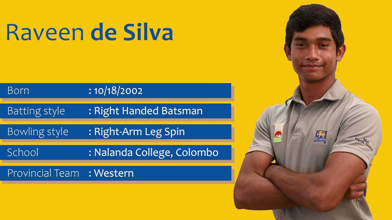 Get to Know | Raveen De Silva | Sri Lanka U19 Vice Captain
